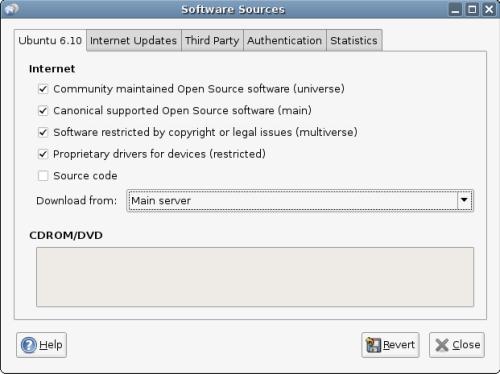 ubuntu software sources update