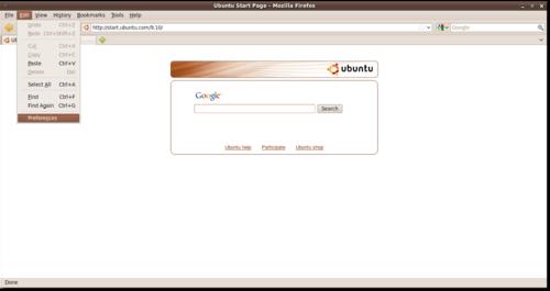 Firefox > Edit > Preferences